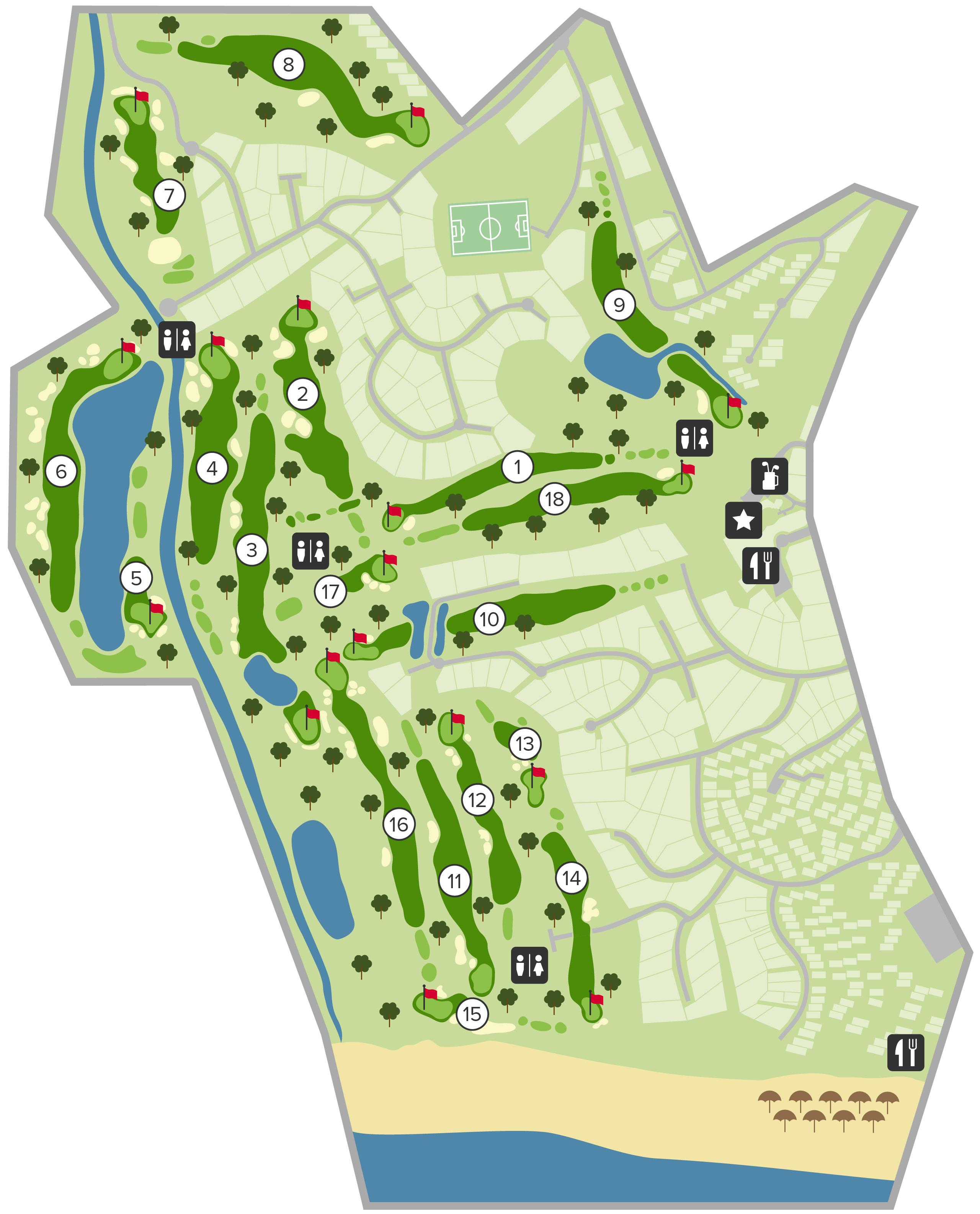 mapa rinchoa Ocean Golf Course   Vale do Lobo   Portugal mapa rinchoa