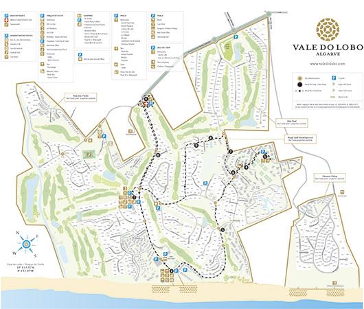 Resort Bus Vale Do Lobo Resort Algarve - Portugal map resorts