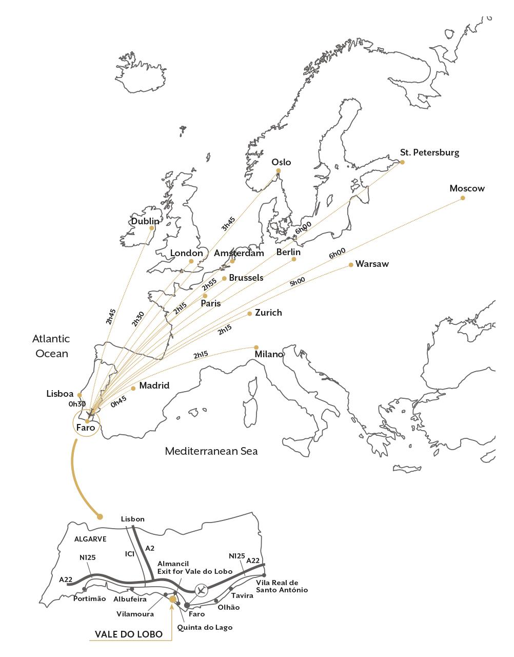 Location Map Directions Vale Do Lobo Algarve Portugal