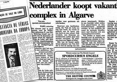 1977: Vale do Lobo is bought by Dutch entrepreneur Sander van Gelder