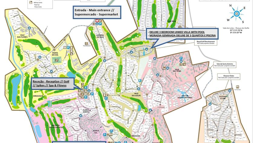 mapa de vale do lobo Moradia Geminada T3 para Férias c/ Piscina e Jacuzzi   Vale do Lobo mapa de vale do lobo
