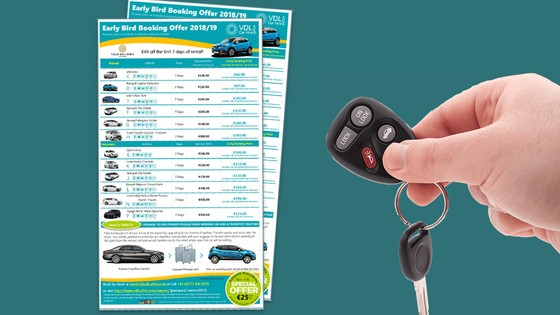 Descontos Early Bird no VDL Car Hire