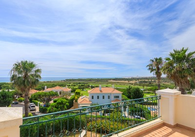 Views over the golf course towards the coast